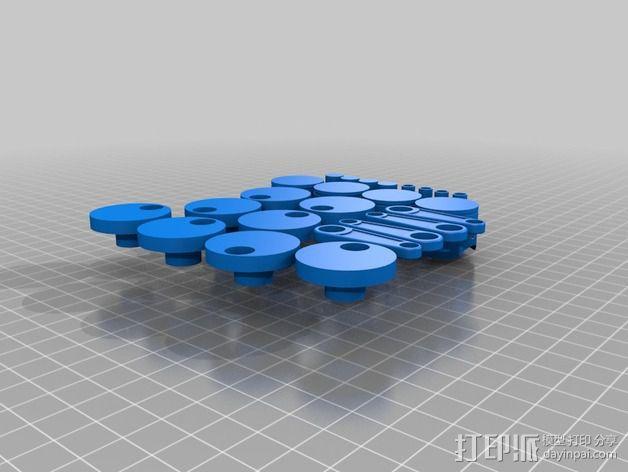 四缸发动机  3D模型  图2