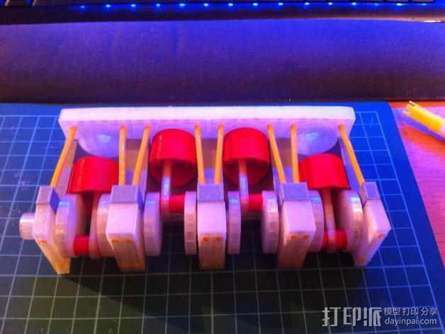四缸发动机  3D模型  图5