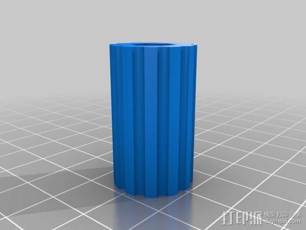 DJI发射机 5英寸显示器支架 3D模型  图2
