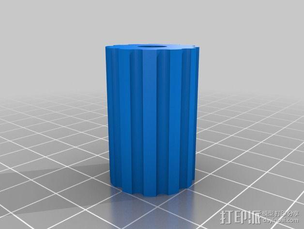 DJI发射机 5英寸显示器支架 3D模型  图3