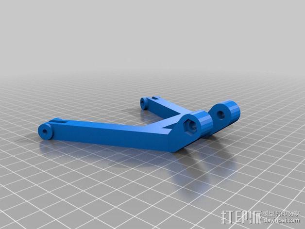 DJI发射机 5英寸显示器支架 3D模型  图4