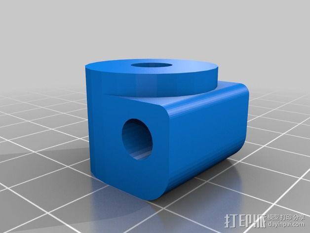 DJI发射机 5英寸显示器支架 3D模型  图5
