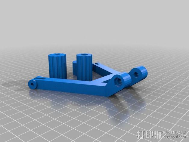 DJI发射机 5英寸显示器支架 3D模型  图6