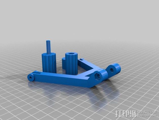 DJI发射机 5英寸显示器支架 3D模型  图7