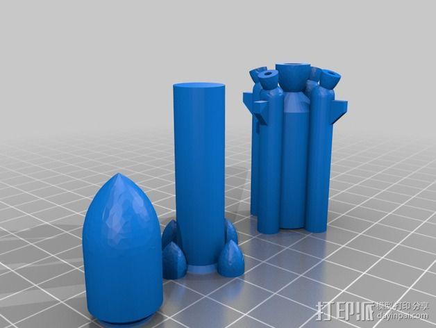 阿丽亚娜系列运载火箭  3D模型  图2