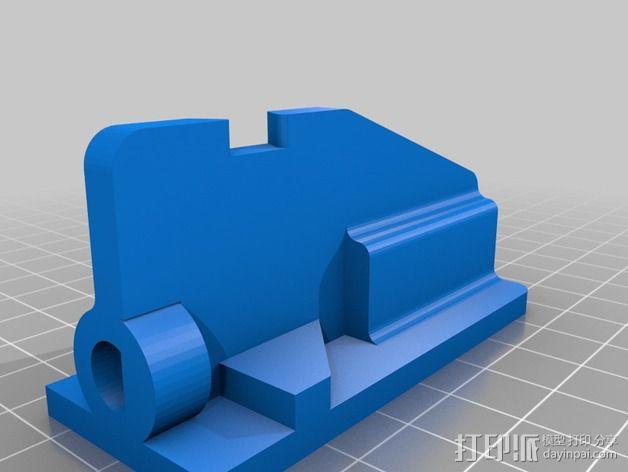 多轴飞行器蝶形尾部 3D模型  图2
