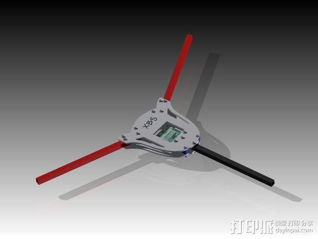 多轴飞行器蝶形尾部 3D模型  图1