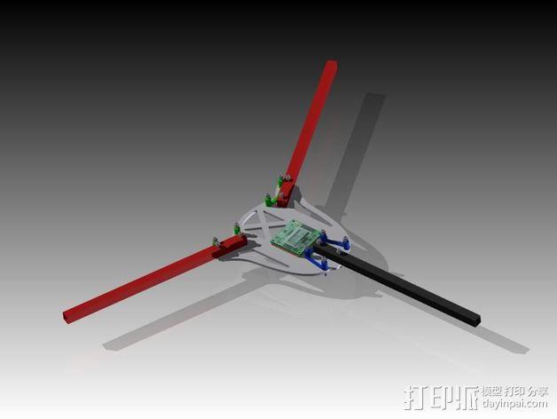 多轴飞行器蝶形尾部 3D模型  图6