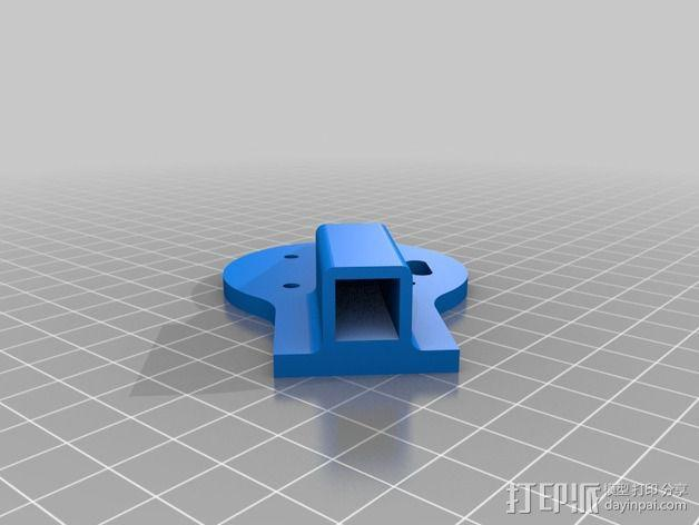 多轴飞行器蝶形尾部 3D模型  图3