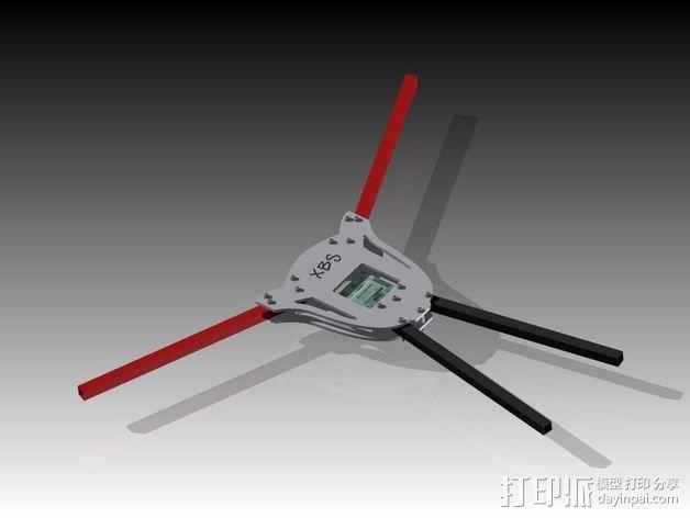 多轴飞行器蝶形尾部 3D模型  图7