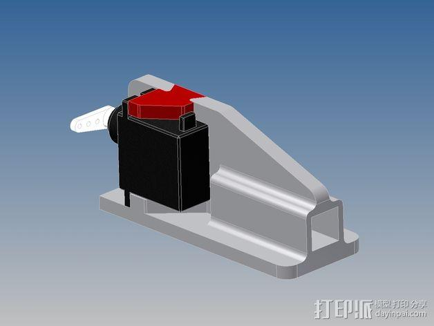 多轴飞行器蝶形尾部 3D模型  图9