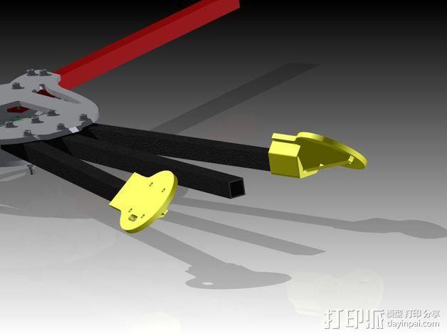 多轴飞行器蝶形尾部 3D模型  图8
