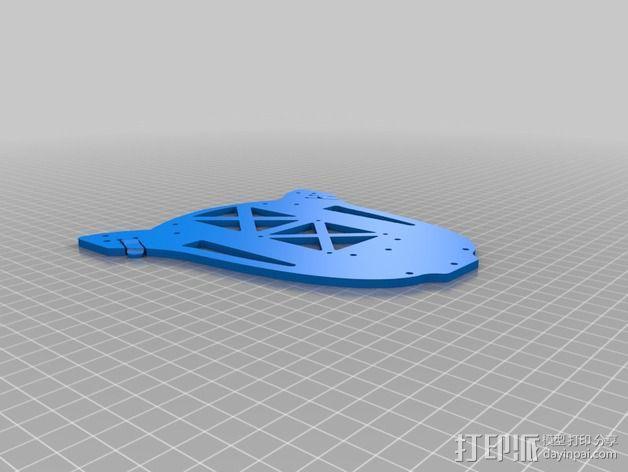 多轴飞行器蝶形尾部 3D模型  图11