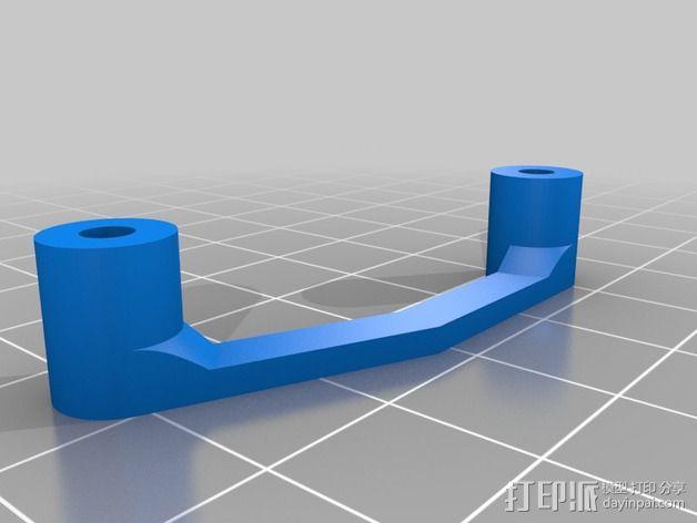 多轴飞行器蝶形尾部 3D模型  图12