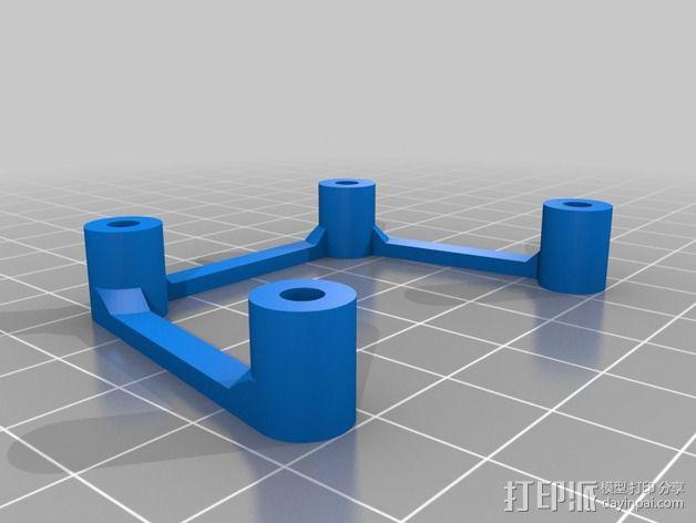 多轴飞行器蝶形尾部 3D模型  图13