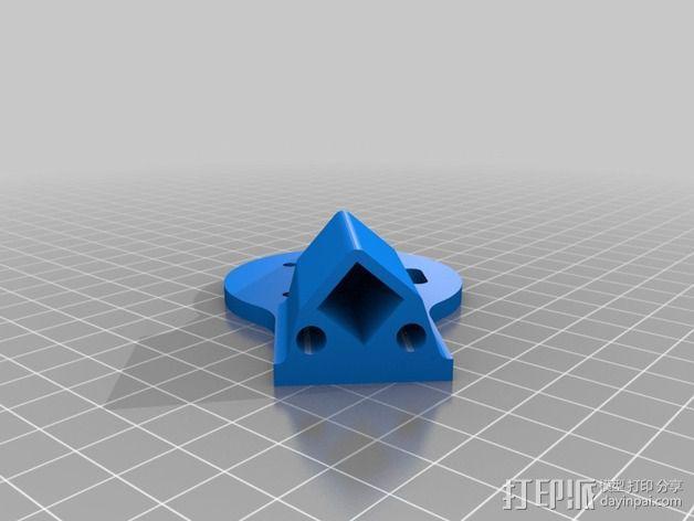 多轴飞行器蝶形尾部 3D模型  图15