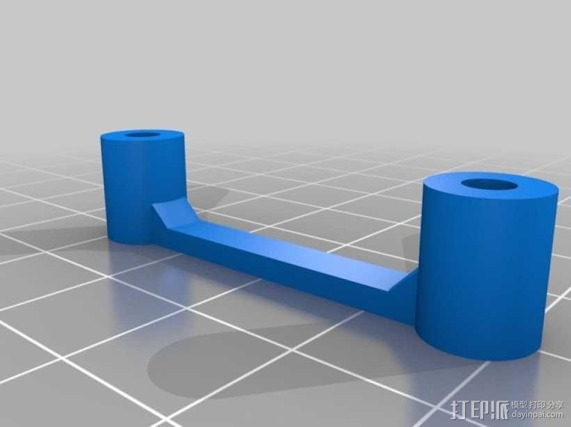 多轴飞行器蝶形尾部 3D模型  图14