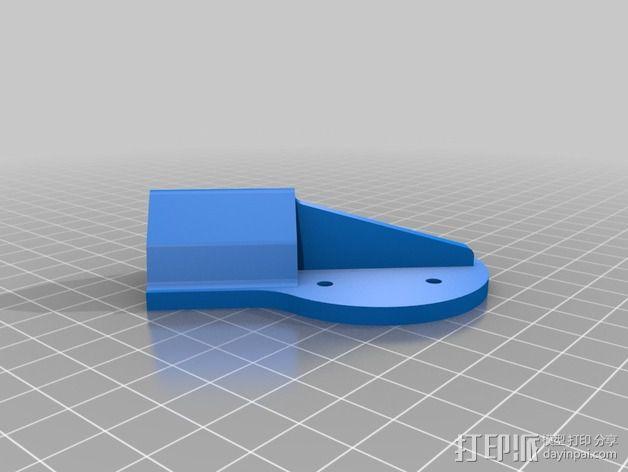 多轴飞行器蝶形尾部 3D模型  图16