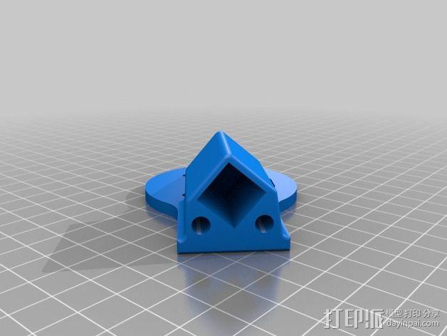 多轴飞行器蝶形尾部 3D模型  图17