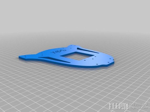 多轴飞行器蝶形尾部 3D模型  图20