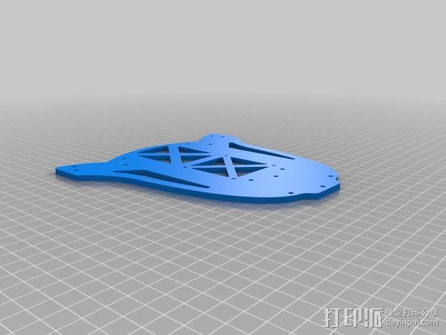 多轴飞行器蝶形尾部 3D模型  图19