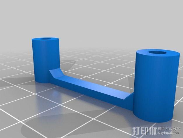 多轴飞行器蝶形尾部 3D模型  图21