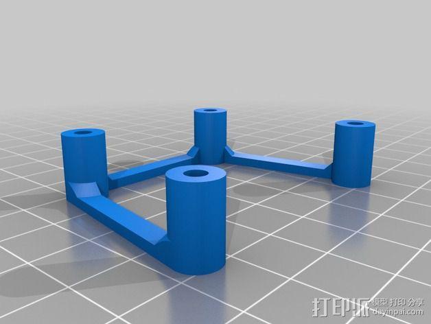 多轴飞行器蝶形尾部 3D模型  图22