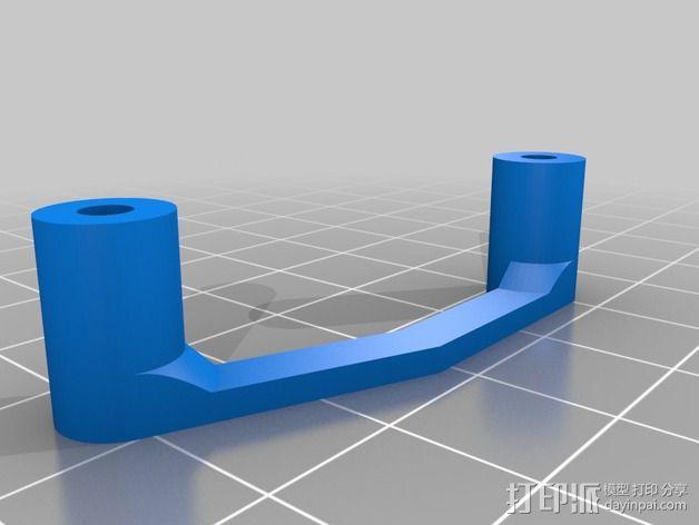 多轴飞行器蝶形尾部 3D模型  图24