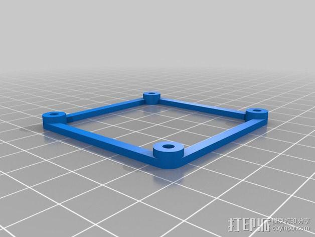多轴飞行器蝶形尾部 3D模型  图23