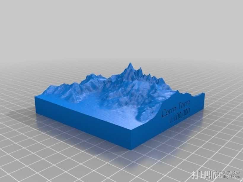 托雷峰地形图 3D模型  图1
