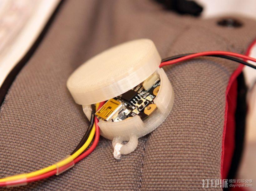Adafruit GEMMA电路板外壳 3D模型  图1