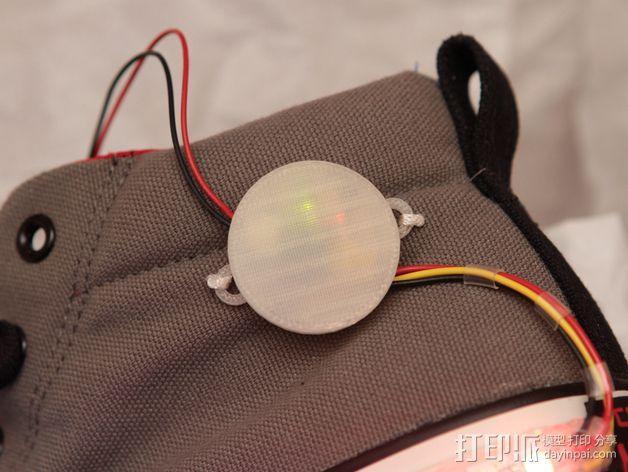 Adafruit GEMMA电路板外壳 3D模型  图3