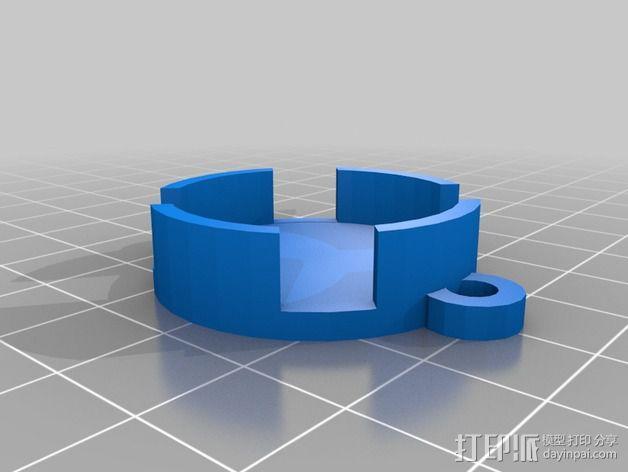 Adafruit GEMMA电路板外壳 3D模型  图6
