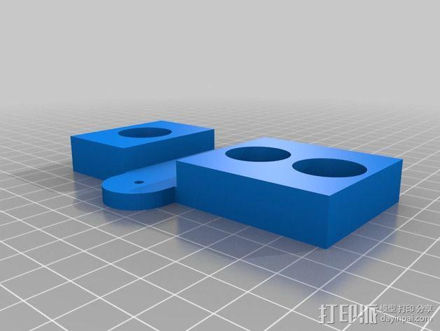 常平架支架 3D模型  图2