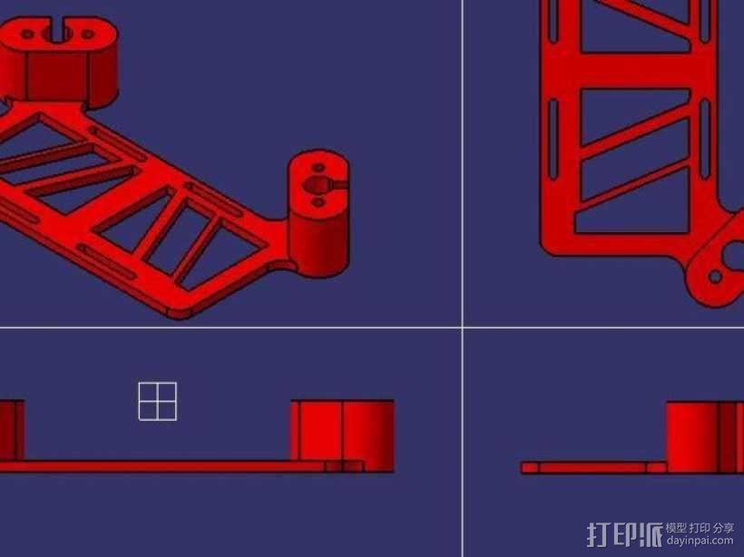 多轴飞行器 相机支架 3D模型  图6