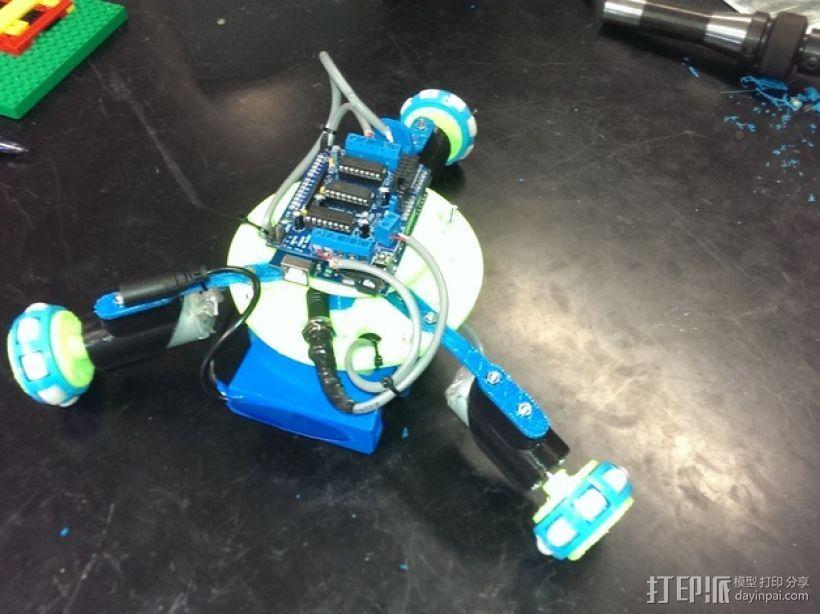 万向轮机器人 3D模型  图1