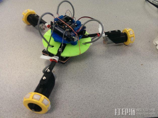 万向轮机器人 3D模型  图3
