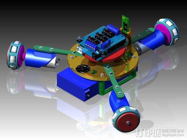万向轮机器人 3D模型  图2