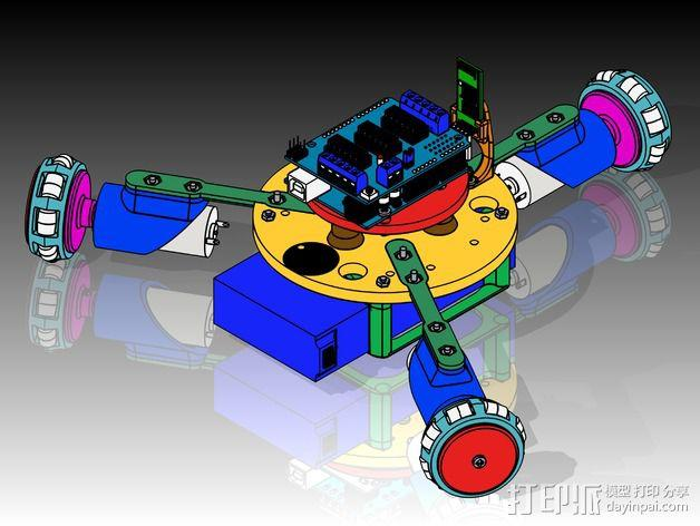 万向轮机器人 3D模型  图4