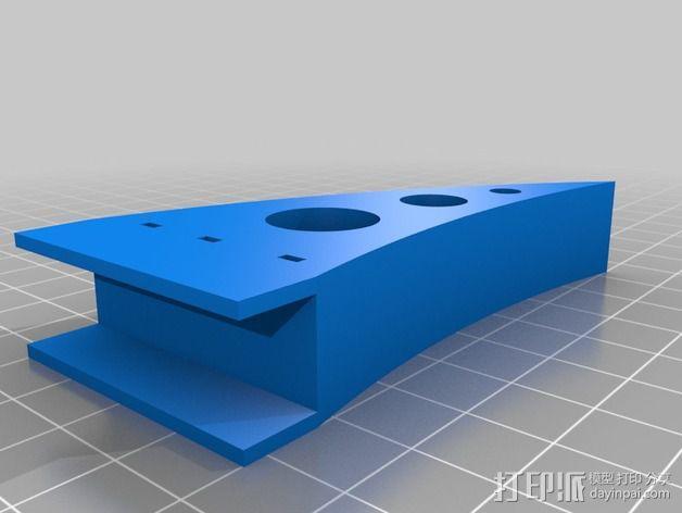 三轴飞行器零部件 3D模型  图2