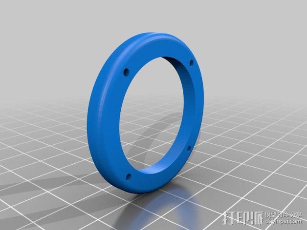 摇臂开关 面板支架 3D模型  图4