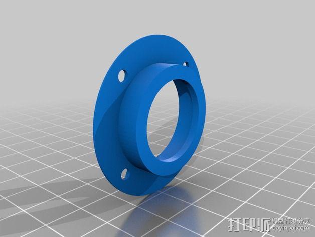 摇臂开关 面板支架 3D模型  图5