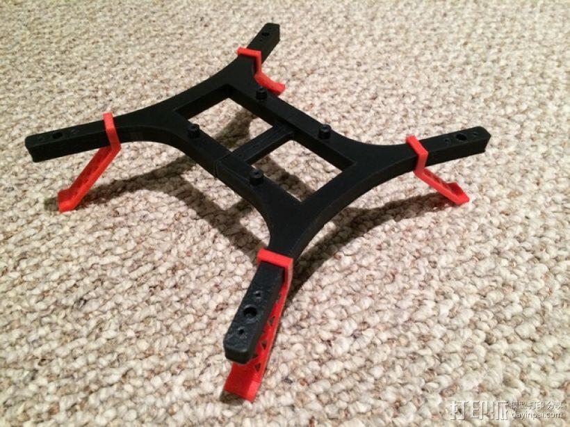 迷你四轴飞行器 起落架 3D模型  图1