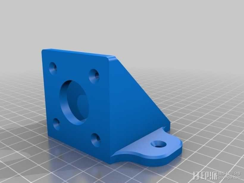 NEMA 17步进电机支架 3D模型  图2