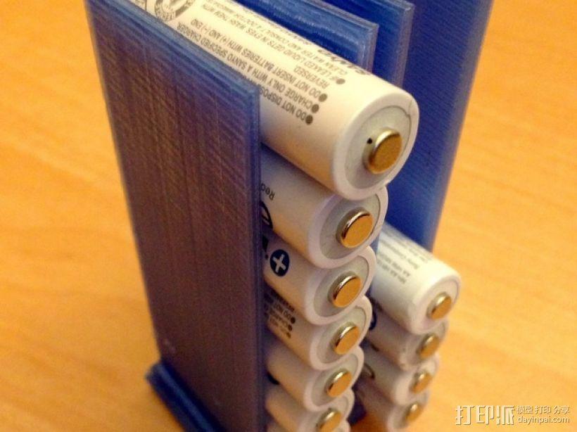 可堆叠AA电池盒 3D模型  图1