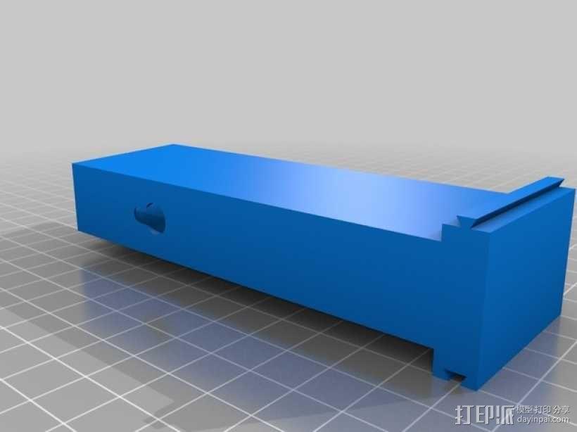 可堆叠AA电池盒 3D模型  图2
