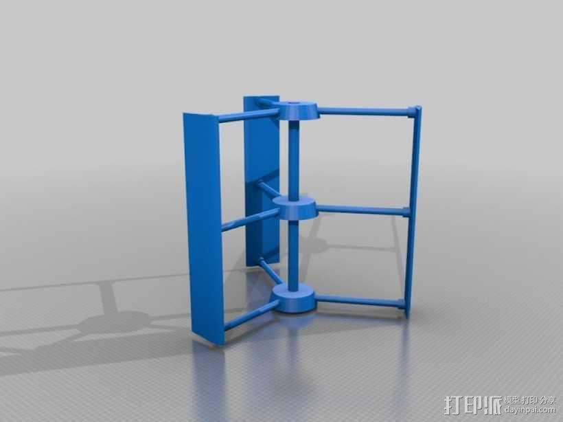 风力涡轮机 3D模型  图2