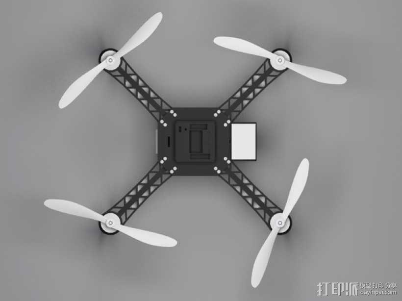 QX380四轴飞行器 3D模型  图2