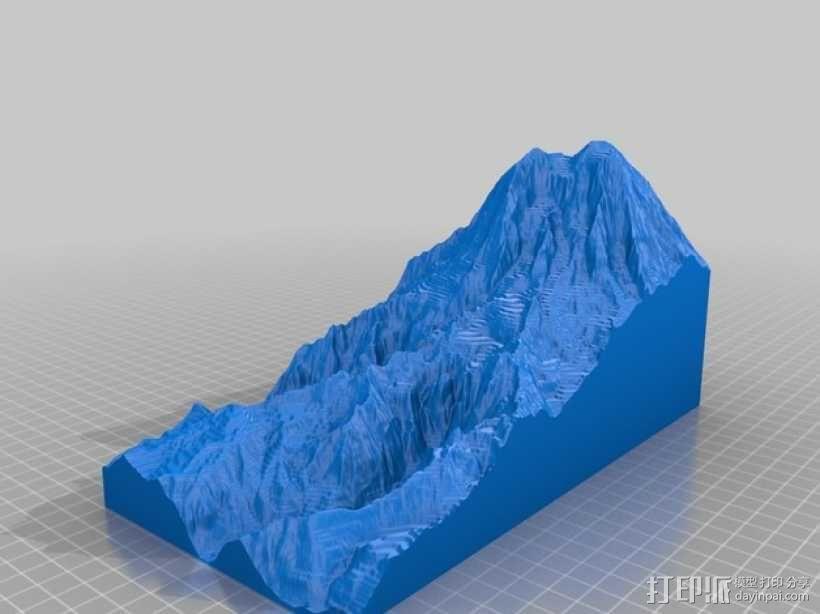 雷尼尔山 3D模型  图1