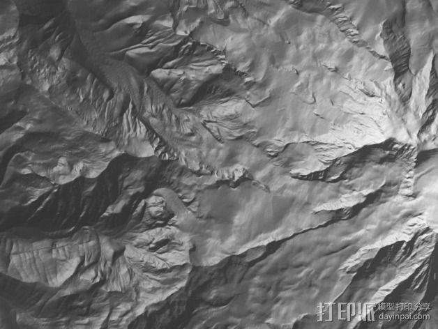 雷尼尔山 3D模型  图2
